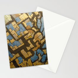 Gold cubic Eiffel tower close up Stationery Cards