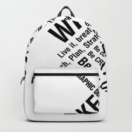 Graphic Design. Wake Up Backpack