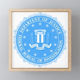 FBI Seal In Blue Framed Mini Art Print