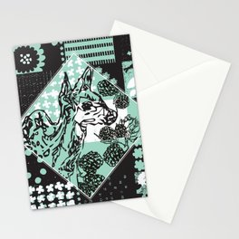 Patch-work Deer Stationery Cards
