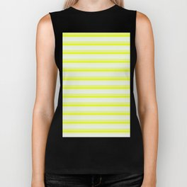 Yellow Stripes Biker Tank