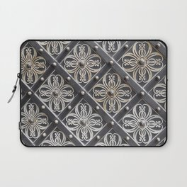 Metallic And Decorative - Grey Monochrome #decor #society6 #buyart Laptop Sleeve
