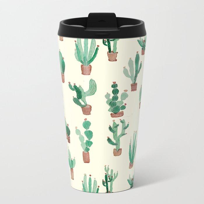 litle watercolor pocket cactus Travel Mug