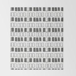 Blocks White/Grey Throw Blanket