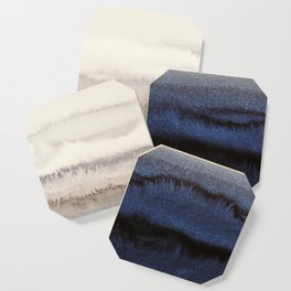 WITHIN THE TIDES WINTER BLUES by Monika Strigel Coaster