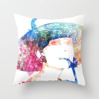 audrey hepburn Throw Pillows featuring Audrey Hepburn by Heaven7