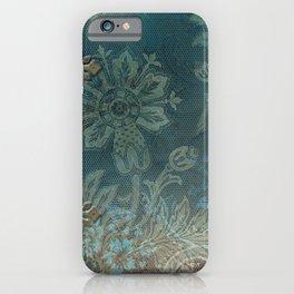 Teal vintage retro pattern iPhone Case