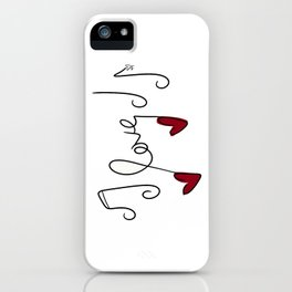 Love Notes iPhone Case