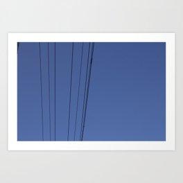Lines & Bird Art Print