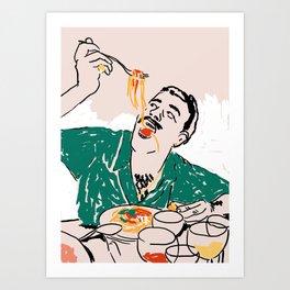 Gluten, tomate, queso (3/3) Art Print
