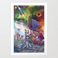 starfox Art Prints featuring Starfox Universe by Robaato