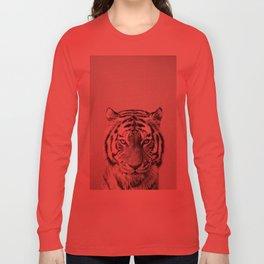 Tiger - Black & White Long Sleeve T-shirt