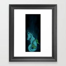 Kelpie the Hippocampus  Framed Art Print