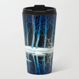 """""""The Forest of Dean"""" (Bob Ross-style Patronus Painting) Metal Travel Mug"""
