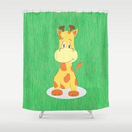 A happy giraffe Shower Curtain