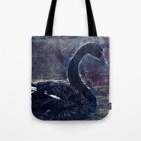 black swan Tote Bags featuring Black swan by jbjart
