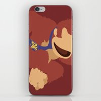 donkey kong iPhone & iPod Skins featuring Donkey Kong(Smash)Red by ejgomez