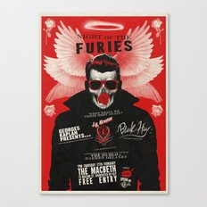 Night of the Furies - Gig poster Canvas Print