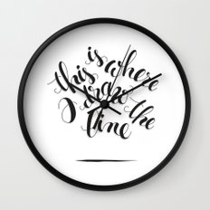this is where I draw the line Wall Clock