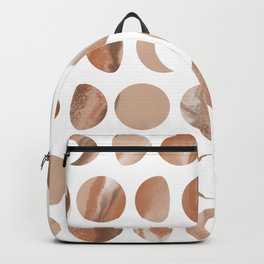 Pastel Moon Phases - Marble Backpack