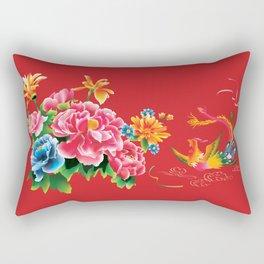chinese peonies and phoenix Rectangular Pillow