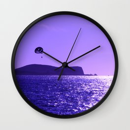 Para Gliding in Moonlit Skies Wall Clock
