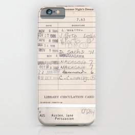 Old Friends Library Circulation Card Print iPhone Case