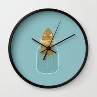 potato Wall Clocks featuring Potato Growth by Phil Jones