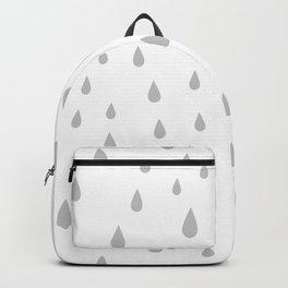Light Grey Raindrops pattern Backpack