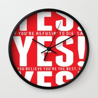 YES! YES! YES! Wall Clock