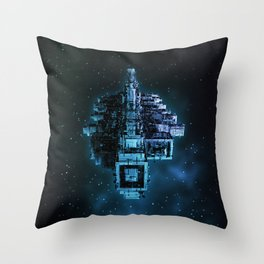 Leviathan BLUE / Keep on trucking Throw Pillow