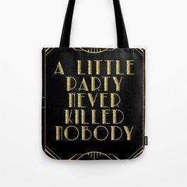 A little party - black glitz Tote Bag