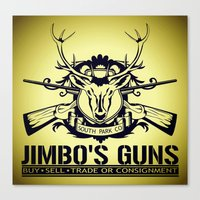guns Canvas Prints featuring Jimbo's Guns by Silvio Ledbetter