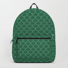 Teal Mermaid Scale Pattern Backpack