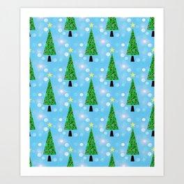 Christmas Repeat Art Print