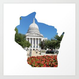 Beautiful Capitol Building in Wisconsin Art Print