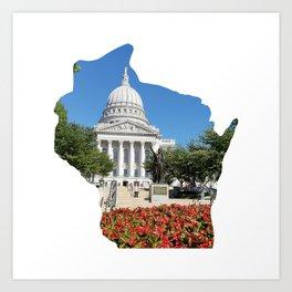 Beautiful Capitol Building in Wisconsin Art Print