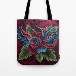 Sparrow Rose Tote Bag