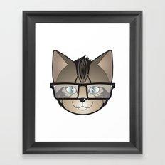 Tabby Glasses Framed Art Print