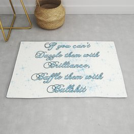 If you can't dazzle them with Brilliance Rug
