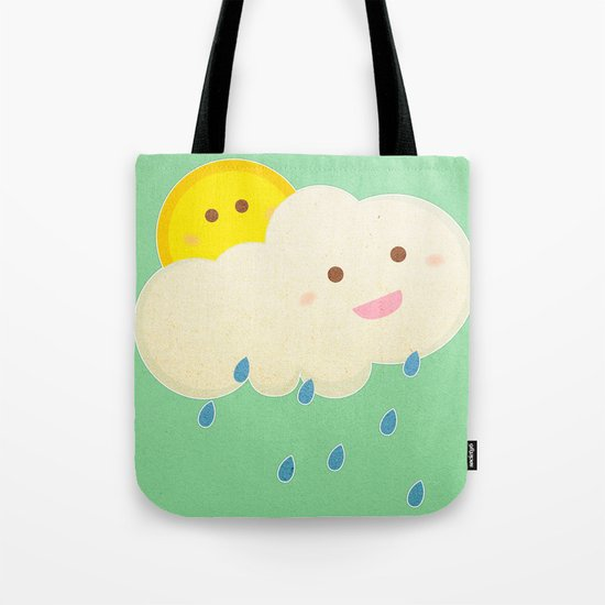 Raining day Tote Bag