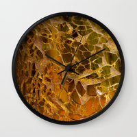 glass Wall Clocks featuring Glass by Veronika