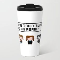 The IT Crowd Characters Metal Travel Mug