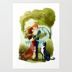 Love and Dogs Art Print