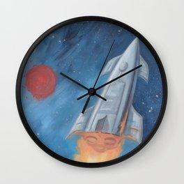 Rocket Fire Wall Clock