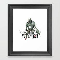 Folkbol Framed Art Print