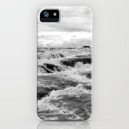 Gullfoss B&W iPhone Case