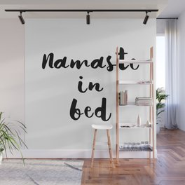 Nameste in Bed Wall Mural