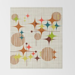 Starbursts and Globes 4 Throw Blanket