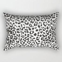 Black & White Leopard Print Rectangular Pillow
